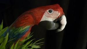 Handpaint papegaai