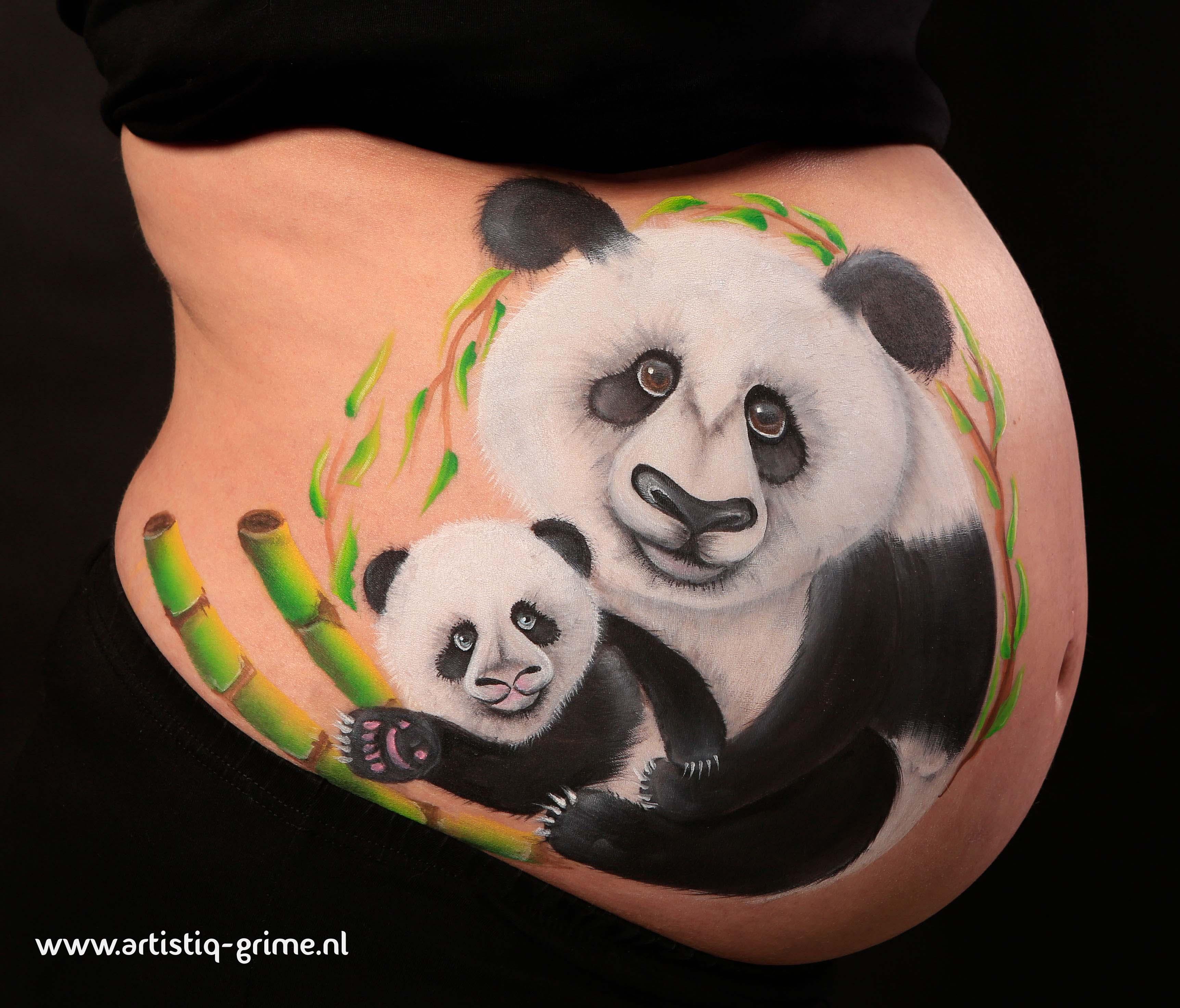 bellypaint panda's terakopie